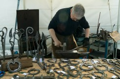 A blacksmith demonstration