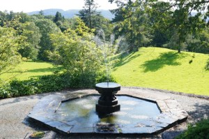 The Victorian Octagonal Fountain on the Lower Terrace at Holehird
