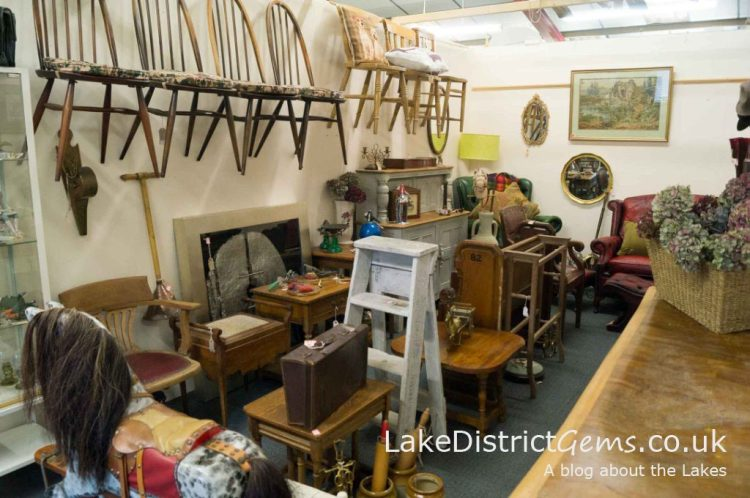 Inside Butterfield and French, The Antiques Emporium, Kendal