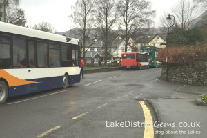 Three buses in Grasmere