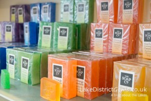 Soaps sold in The Soap Co shop