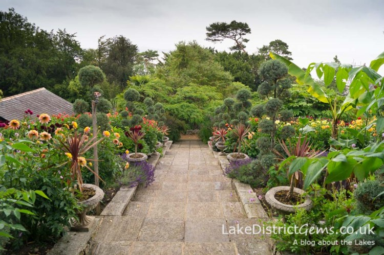 The Italian Garden at Yewbarrow House, Grange-over-Sands