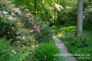 Pathway inside the Stagshaw Gardens, Ambleside