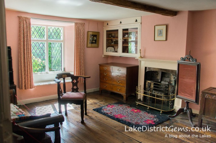 The sitting room at Dove Cottage, Grasmere