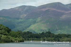 A close up of the view north from the Lingholm jetty on Derwentwater
