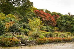 Brantwood's Southern Gardens in autumn