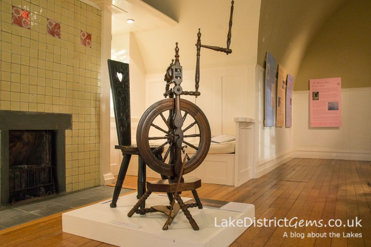 One of the spinning wheels in Annie Garnett's collecction