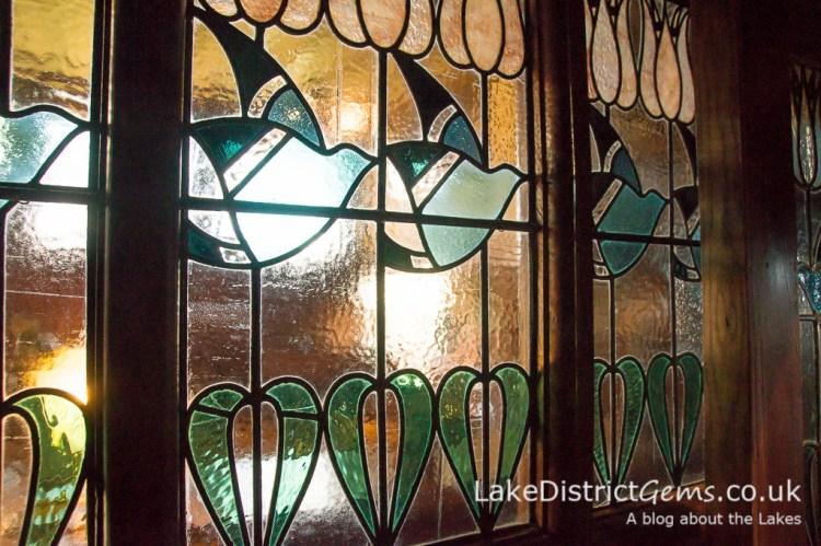 Stained glass detail at Blackwell
