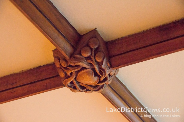 Ceiling detail in the upstairs corridor at Blackwell