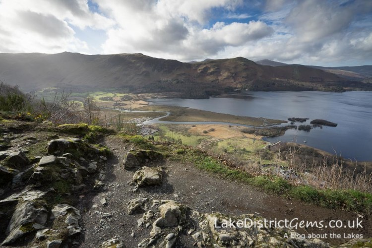 Looking southwards across Derwentwater from the National Trust's Surprise View viewpoint