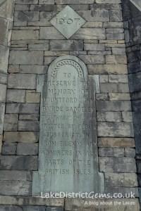 Inscription on the Baddley Clock, Windermere