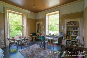 Reading room at Allan Bank