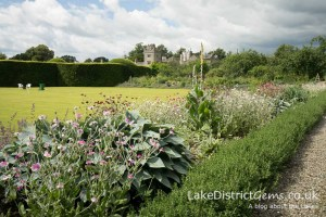 The bowling green at Levens Hall