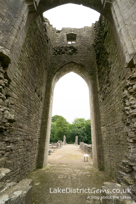 The west tower at Shap Abbey