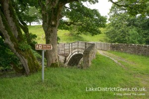 The bridge from the car park at Shap Abbey