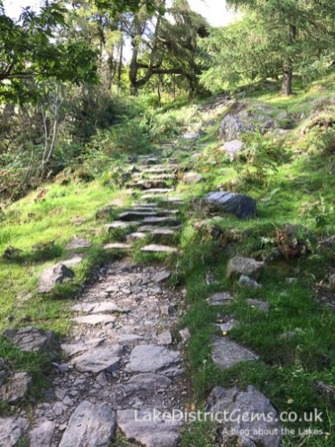 The steep stone path to Gummer's How