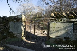 The kissing gate on the Orrest Head walk
