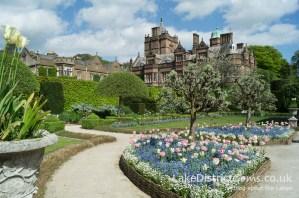 Inside the gardens at Holker Hall