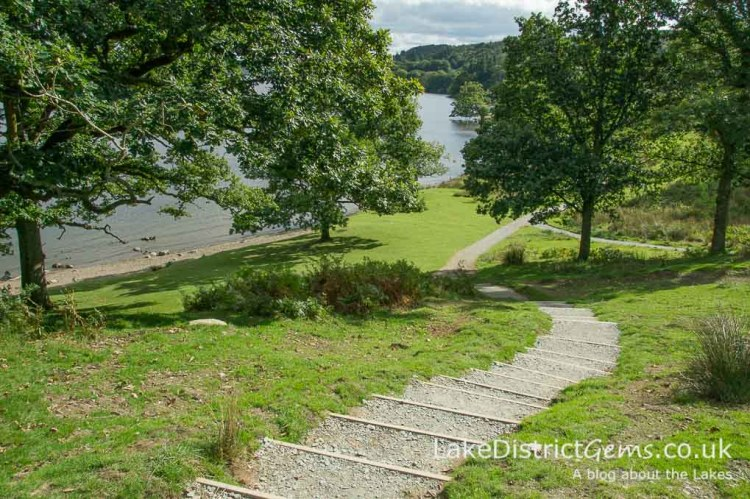 Steps down to Windermere shore