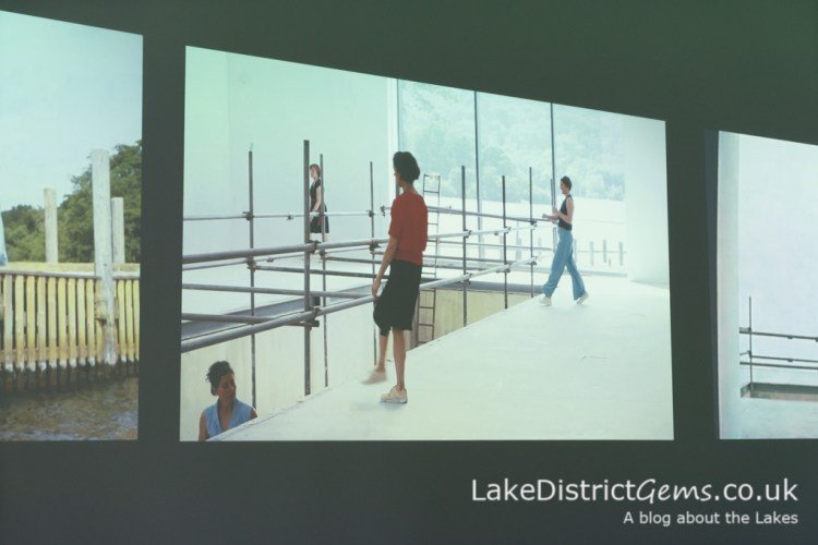 Temporary exhibition space at Windermere Jetty featuring (Re)Make