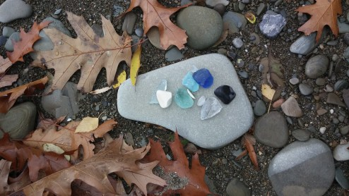 It's always fun to search for beach glass in North East!