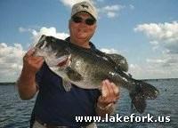 Joe with Lake Fork guide Jason Hoffman