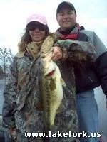 Charla with Lake Fork guide Jason Hoffman