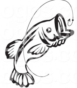 royalty-free-vector-of-a-jumping-black-and-white-fish-and-hook-logo-by-seamartini-graphics-3275