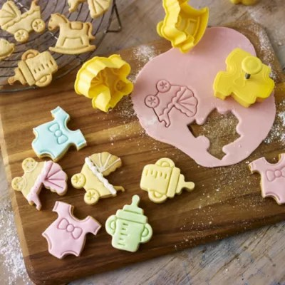 4 Baby Shower Cookie Cutters in cookie and pastry cutters