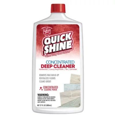 Quick Shine Hardwood Deep Cleaner  Wax Remover 800ml