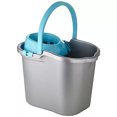 Cleaning Mop Bucket Handle Amp Wringer 16l Grey Amp Blue