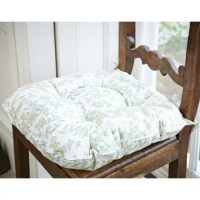 Green Blossom Kitchen Chair Cushion   Lakeland