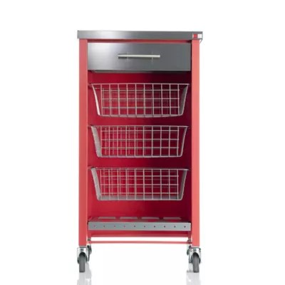 Hahn Chelsea Kitchen Trolley Red In Kitchen Trolleys And