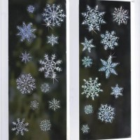 Sparkly Snowflakes Window Decorations in christmas ...