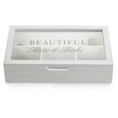 Decorative Wooden Storage Box for Bits & Bobs