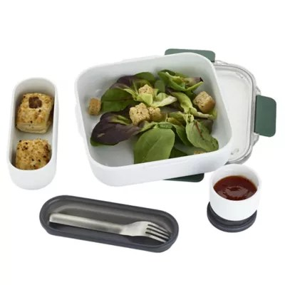 black blum leakproof original lunch box 1l olive green