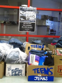 Teens for Jeans2014 over 500 pairs donated!