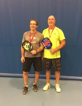 Darryl Kopela and Rob Barrett Gold in mens doubles skill level 3.5.