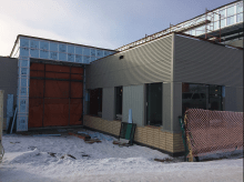 Construction at Two Hills Mennonite School