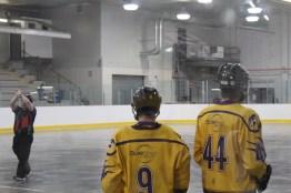 Donovan Bibeau and Brae Howatt dicuss the game
