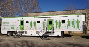 Cervical and colorectal cancer screening project joins mobile mammography program visit to Elizabeth Métis Settlement