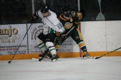 """""""The T-Birds and the Wheat Kings each won a game in Killam, but Frog Lake won both their home games to give themselves a huge 3-1 series advantage."""" [Photo submitted by Russel Quinney]"""