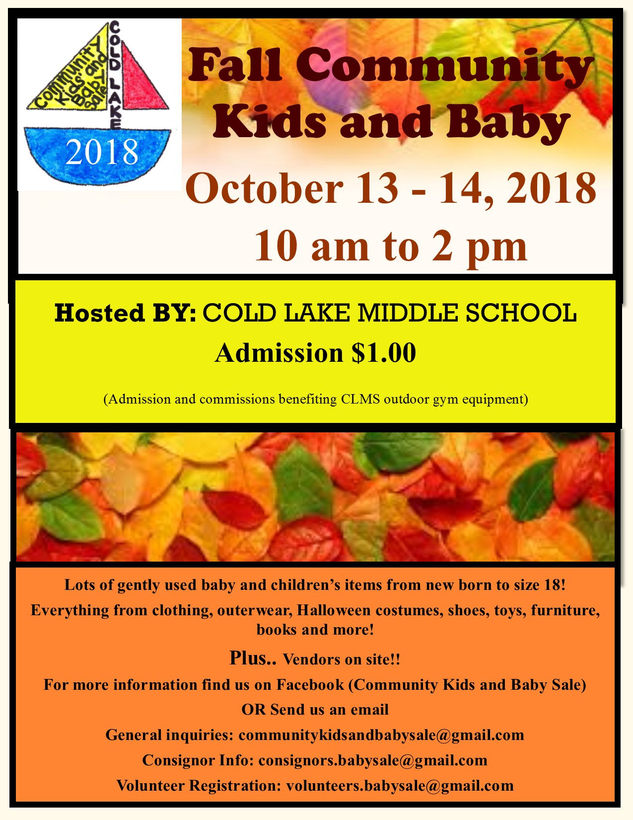 Upcoming fall sale tons of great gently used items of all kinds for baby and kids clothes outerwear footwear furniture books and so much more