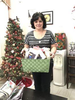 Wanda Cochrane, of Wanda Lynn's Body Shoppe, provided gift bags for moms