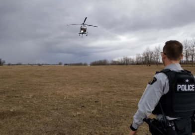 Police Chopper used to track suspects near Saddle Lake