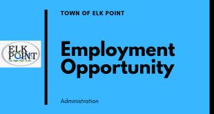 Employment Opportunity: Administrative Clerk – Town of Elk Point