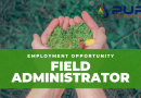 EMPLOYMENT OPPORTUNITY: Field Administrator – Pure Environmental