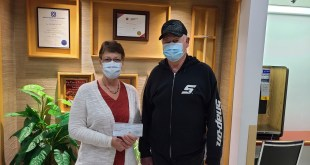 Lions donate $10K to Two Hills Health Centre