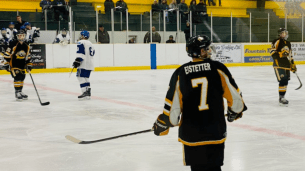 Dylan Eistetter who scored the first goal of the game.