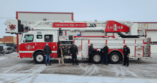 Brand new $1.4 million fire truck arrived in Vermilion yesterday